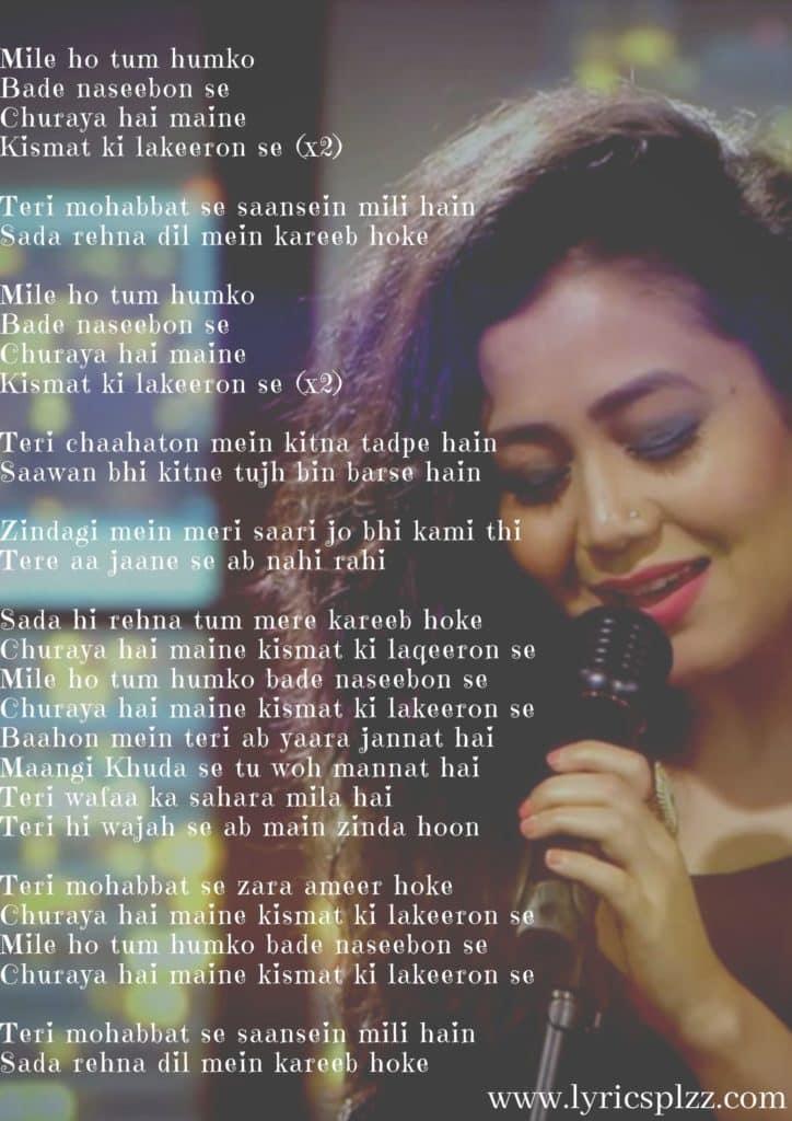 mile ho tum lyrics image